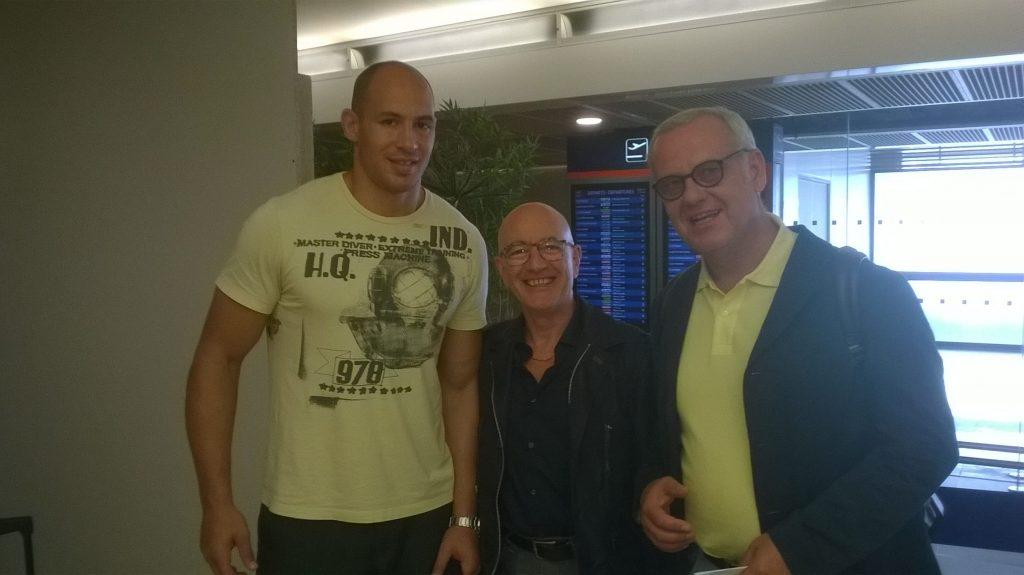 Con il mio grande amico Peppino Spinelli ed il Capitano Parisse a Parigi